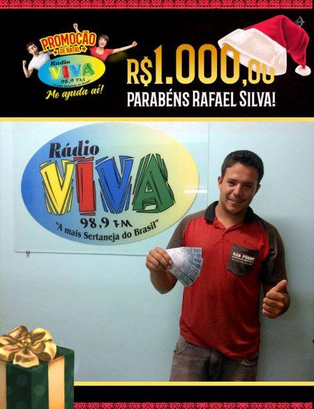 Ganhador da promoção Me Ajuda Aí Rádio Viva FM